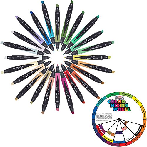 Prismacolor Premier Landscape Marker Kit 24 Color Set Double End With A Free Carrying Case by US Art Supply