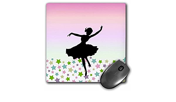 3dRose LLC 8 x 8 x 0.25 Inches Mouse Pad, Spinning Ballet Dancer ...