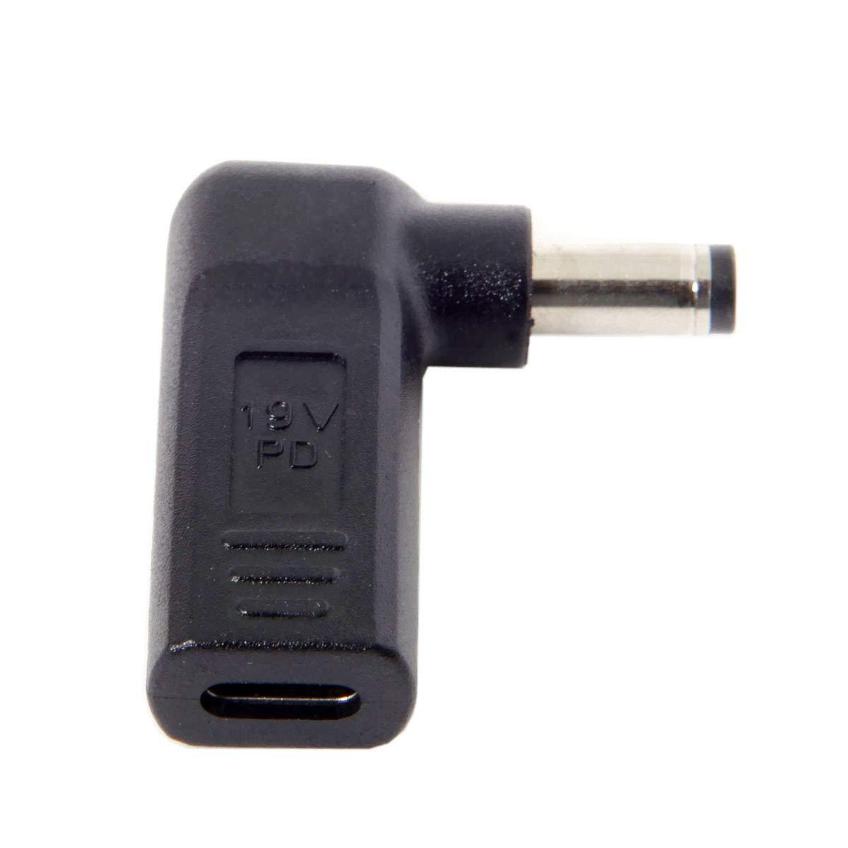 5,5 mm, 4,0 mm, 7,4 mm, 3,0 mm, 2,5 mm 5.5 * 2.1MM Cablecc USB-C Adaptador USB 3.1 Tipo C a DC Rectangular