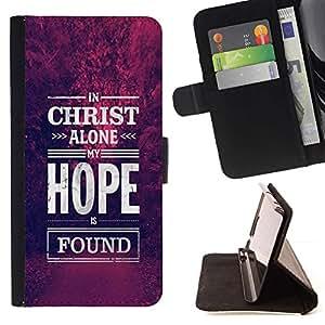 Momo Phone Case / Flip Funda de Cuero Case Cover - Cristo Esperanza Dios cristiano púrpura - Samsung Galaxy S5 V SM-G900
