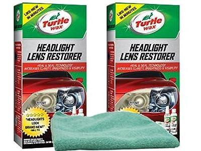 Turtle Wax Headlight Lens Restorer Bundle with Microfiber Cloth (3 Items)