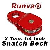 "Runva 2 Ton 1/4"" Snatch Block ATV UTV"