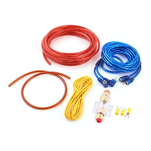 Vehicle Car RCA to RCA Audio Fuse Holder Cables Amplifier Wire Kit Set