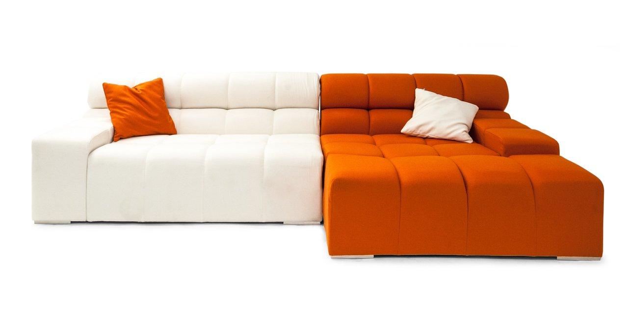 Amazon.com: Kardiel Cubix Modern Modular Right Sectional Sofa ...