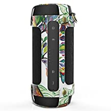 MoKo Carrying Case for JBL Charge 2+ , Portable Bluetooth Speaker Cover PU Leather Protective Bag Sleeve Skins, with Holding Strap & Carabiner, Lucky Tree