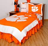 College Covers Clemson Tigers Bed in a Bag Queen - With Team Colored Sheets