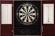 Viper Metropolitan Sisal/Bristle Steel Tip Dartboard & Cabinet Bundle: Deluxe Set (Dead On Dartboard and D