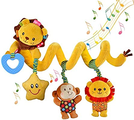 Star Activity Music Crib Bed Soft Musical Baby Toy Infant Rattle Stroller//Pram H