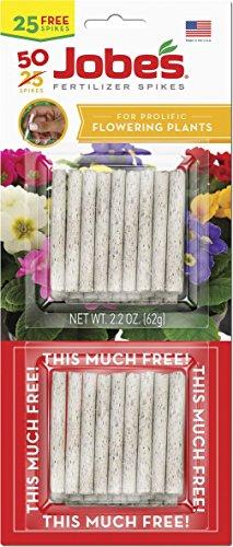 Jobe's 05231T Flowering Plant Fertilizer Spikes 10-10-4, 1 Pack, Multicolor