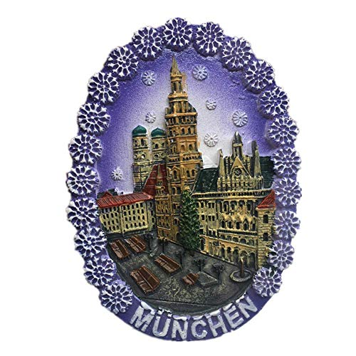 Fridge Magnet Munich Germany 3D Resin Handmade Craft Tourist Travel City Souvenir Collection Letter Refrigerator Sticker