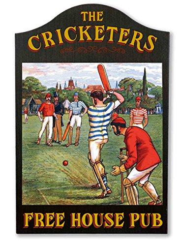 (THOUSAND OAKS BARREL Cricketers Vintage Pub Sign)