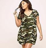 LORALETTE-Womens-Camo-T-Shirt-Dress