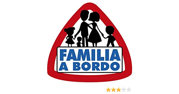 Artimagen Pegatina Familia a Bordo 90x95 mm.