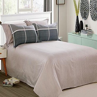 DB&PEISHI Solid 4 Piece Cotton Cotton 1pc Duvet Cover 2pcs Shams 1pc Flat Sheet , full