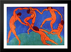 Dance (II) 40x28 Large Black Wood Framed Print Art by Henri Matisse