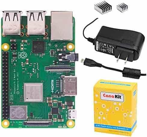 CanaKit Raspberry Pi 3 B+ (B Plus) with 2.5A Power Supply (UL Listed)