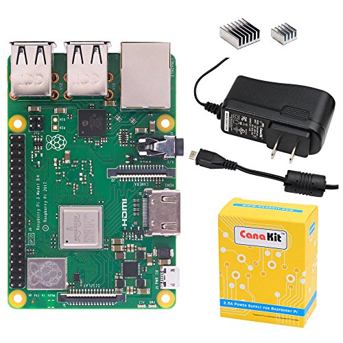 CanaKit Raspberry Pi 3 B+ (B Plus) with 2.5A Power Supply (UL Listed) by CanaKit