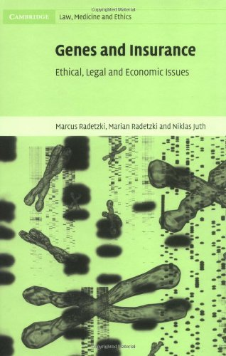 Download Genes and Insurance: Ethical, Legal and Economic Issues (Cambridge Law, Medicine and Ethics) Pdf