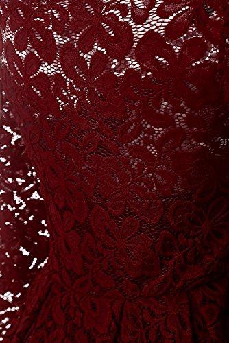 ... TOSKANA BRAUT Herrlich Spitze Gerade Kragen Halbarme Abendkleider  Cocktailkleider Partykleider Abschlussballkleider Kurz Weinrot 1 ZYNLZX3yjw e41cf633e9