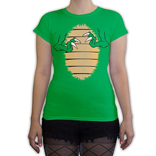 Death By Novelty - T-Rex Costume Women's Fashion T-Shirt Kelly Green -