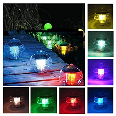 Coquimbo Solar Floating Light for Pool Pond Waterproof ABS Plastic with Color Changing LED Solar Light Globe Night Light Lamp Garden Swimming Pool Party Home Decor (1 Pack)