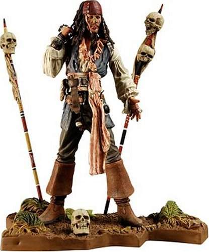 NECA Pirates of the Caribbean Dead Man's Chest Series 3 Cannibal Jack Sparrow Action -