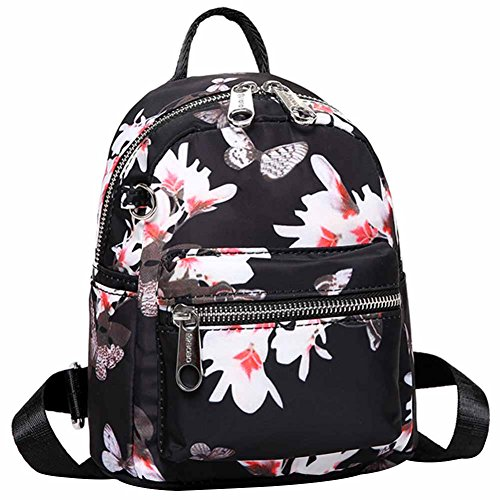 Waterproof Shoulder Three Backpck backpacks and Women HADM Cute For Print Backping Girls 4 Nylon Handbag Small Stlye P6vPFnw4q