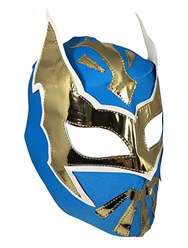 Del Mex Lycra Lucha Libre Adult Luchador Mexican Wrestling Mask Costume (Sin Cara (Turquoise)) -