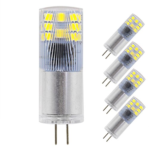 G4 LED Bulb 12V 3W (20W Equivalent) Soft White 3000K Non-Dimmable 280LM 16pcs 2835SMD Bi Pin Base Cob Light T3 Halogen Lamp Replacement 5-Pack by Rowrun ()
