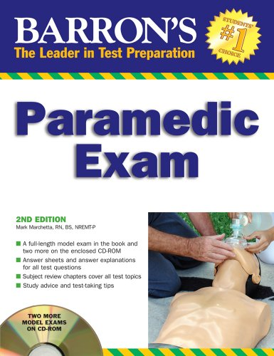 Barron's Paramedic Exam: with CD-ROM (Barron's: The Leader in Test Preparation) by Barron s Educational Series