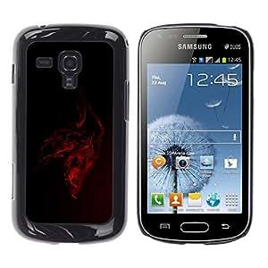 Red Dragon - Metal de aluminio y de plástico duro Caja del teléfono - Negro Samsung Galaxy S Duos / S7562