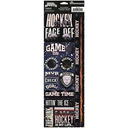 Reminisce Real Sport Die-Cut Cardstock Stickers, 4.25 by 13-Inch, (Die Cut Cardstock Stickers)