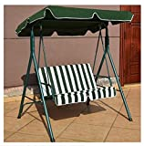 K&A Company Patio Canopy Swing Outdoor Loveseat Hammock Person 2 Seat Porch Yard Bench Furniture Love Chair Leisure Garden Play Glider Green