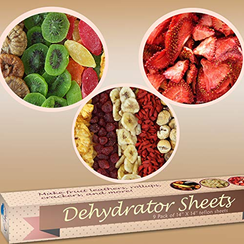 "Sheets - of 9 Premium 14"" 14"" Stick Dehydrators Dryer Sheets For 2500 2900 or Dehidrator Sheet"