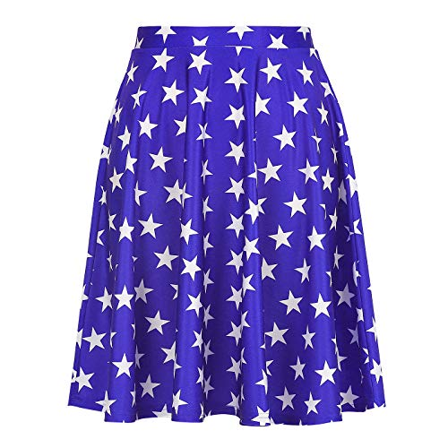 Stars Skirt for Women Superhero Star Skirts Patriotic July 4]()