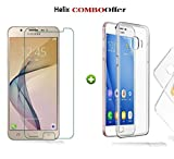 Samsung Galaxy On7 Prime Tempered Glass + 1 TRANSPARENT Back CASE Cover for Samsung Galaxy On7 Prime