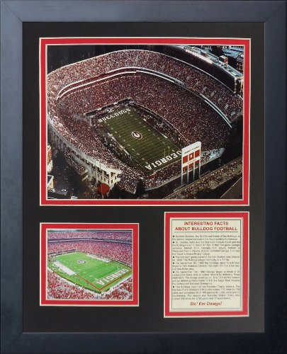 Legends Never Die Georgia Bulldogs Sanford Stadium Framed Photo Collage, 11 by 14-Inch