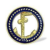 Tubal Cain Masonic Auto Emblem Car Decal Blue & Gold