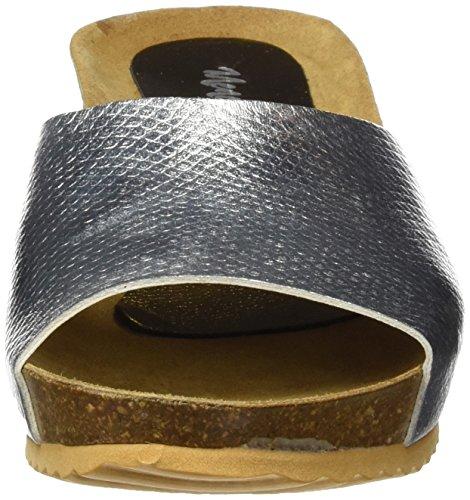 Menorquísima 87536800, Zuecos para Mujer Plateado (Plata)