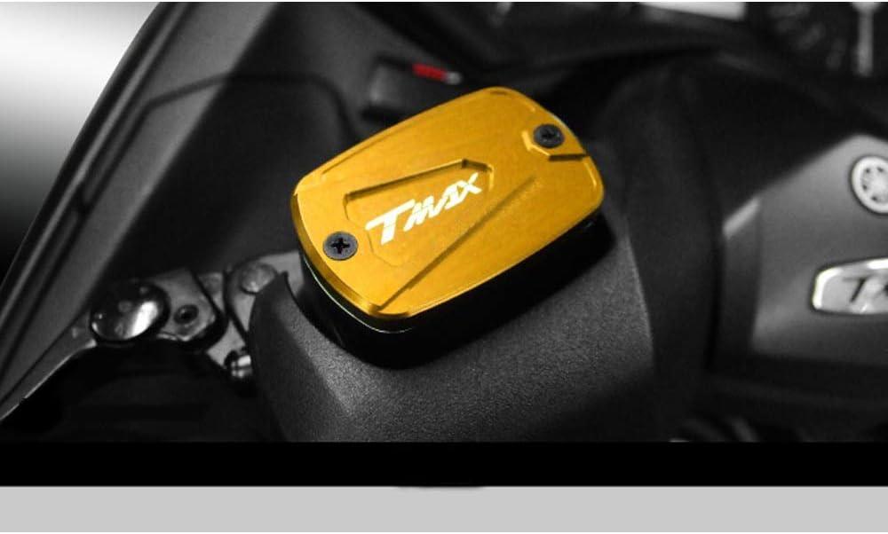 JDDRCASE Tapa del Tanque de Combustible del dep/ósito de l/íquido de Frenos de la Motocicleta Yamaha TMAX530 T-MAX 530 2012-2017