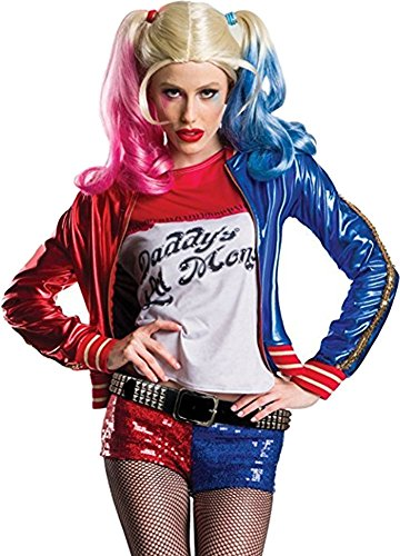Charades Women's Suicide Squad Harley Quinn Costume, As Shown, Small (Authentic Joker Costume)