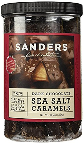 Sanders Dark Chocolate Sea Salt Caramels - 36 Ounce each ( Value Pack of TWO )