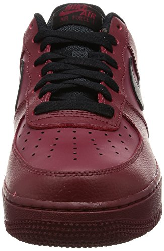 Mens Black 1 Leather Red Force Team Trainers Air 07 Nike zdanfWPqBz