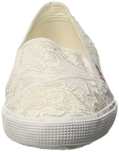 SUPERGA 2210-V30 MACRAMEW 901 de las blancas zapatillas de deporte de muelle de baja de 2016 NUEVA COLECCIÓN tela blanca Blanco