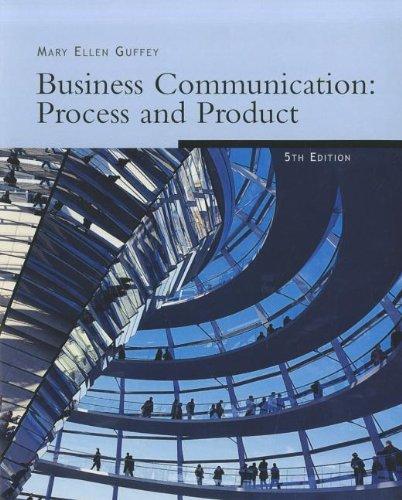 Freedom B/W Version: Business Communication: Process & Product