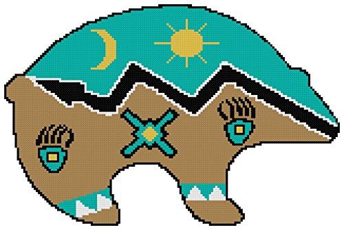 Originals Cross Stitch Pattern (Endless Inspirations Original Cross Stitch Pattern, Native American Bear Spirit)