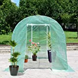 11.5'X 6.5'X6.5' Walk-in Greenhouse Steel Frame Backyard Grow Tents 6 Windows