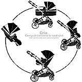 Kids Kargo Cria Single Pushchair carrycot pram. INCLUDING 1 FREE FOOTMUFF. Suitable from Newborn. Black Midnight