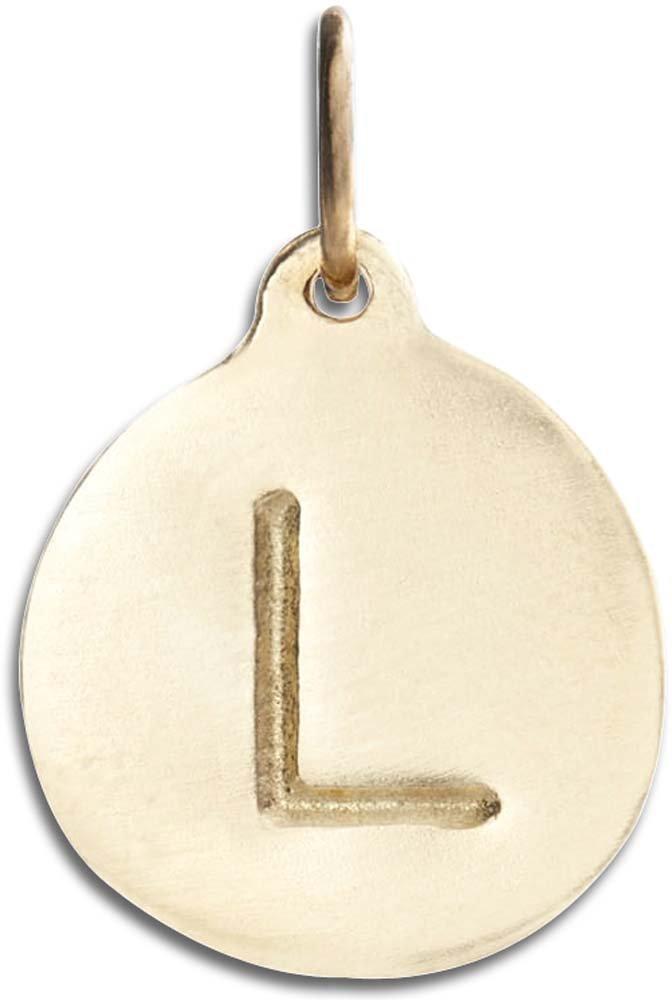 Helen Ficalora ''L Alphabet Charm Yellow Gold