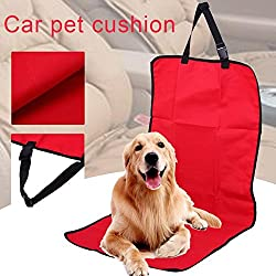 1 piece / Waterproof Dog Car Seat Cover Non Slip Front Seat Mat Blanket Pet Car Travel Accessories Dog Carriers for Car Truck SUV (Red)
